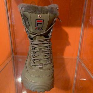 Fila Shoes | Olive Green Fila Boots